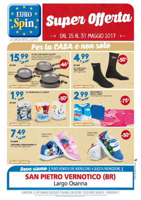 Eurospin a brindisi offerte e promozioni for Volantino casa e co foggia